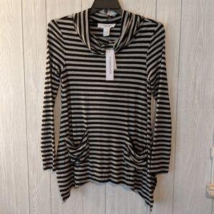Nwt workshop republic clothing striped hoodie sz m